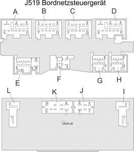 b6 bordnetzsteuerger t j519. Black Bedroom Furniture Sets. Home Design Ideas